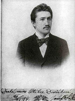 "Asrael Symphony - Portrait of Josef Suk with dedication: ""To Dear Miss Otilka Dvořáková"", 1894"