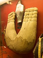 Jousting protection for horse (14658697532).jpg
