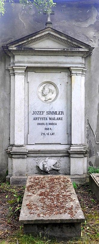 Protestant Reformed Cemetery, Warsaw - Image: Jozef Simmler grave