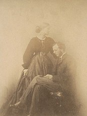 Photograph of Julia and Herbert Duckworth in 1867