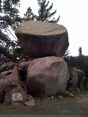 June Lake, California - Perched Boulder