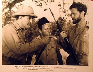 Jungle Menace - Promotional photo for Jungle Menace, showing Frank Buck (left) and Sasha Siemel (right)