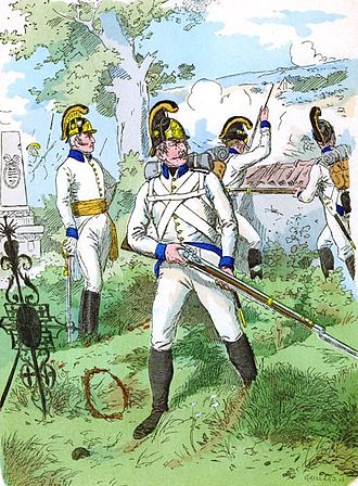 Facing colour - Austrian infantry with blue facings (c.1804)