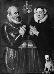 Portrætter af mand og kone i bøn