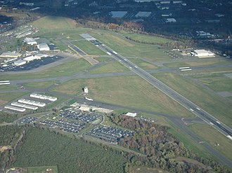 Trenton–Mercer Airport - Aerial view of the airport from the west