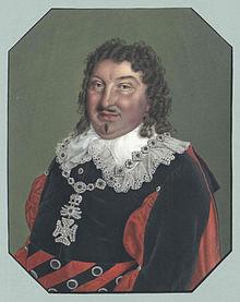 Krüger as Graf Almaviva in Die beiden Figaro[de] by Johann Friedrich Jünger[de] after Martelly. (Source: Wikimedia)