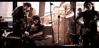John Erik Kaada - John Erik Kaada (left) performing with KAADA ORKESTER.