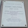 Kaba Melinda emléktáblája, Budapest, XI., Karinthy Frigyes út 24..png