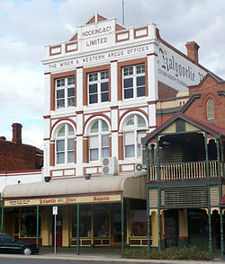 The Kalgoorlie Miner building.