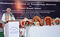 Kapil Sibal addressing at the Foundation Stone laying Ceremony of National Institute of Technology (NIT), at Lengpui, in Mizoram.The Chief Minister of Mizoram, Shri Lal Thanhawla and the Education Minister, Mizoram.jpg