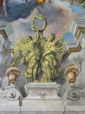 English: Karlskirche, Vienna. Fresco by Johann...