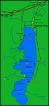 Carte du lac Inle.