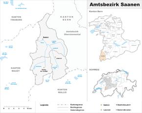 Map of Saanen District