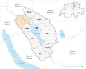 Karte von Dübendorf