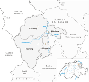 Map of the municipalities of the Alttoggenburg district 2002.png