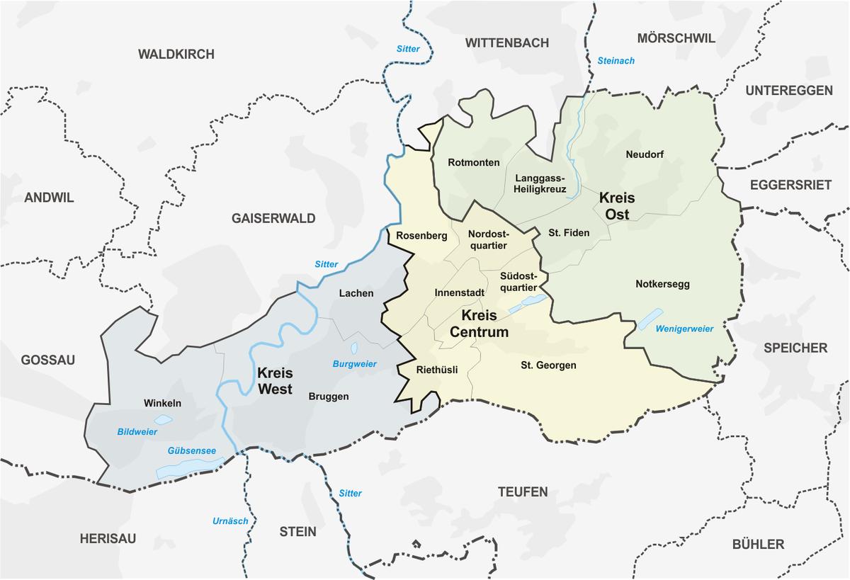 Postleitzahl St. Gallen