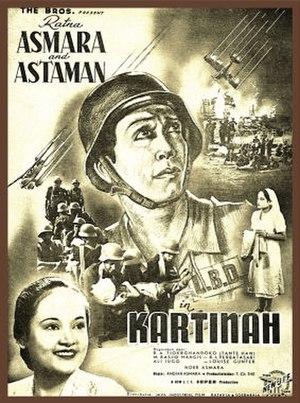 Andjar Asmara - Poster for Kartinah, Andjar's directorial debut
