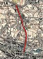 Katowice - aleja Korfantego - mapa z 1933.jpg