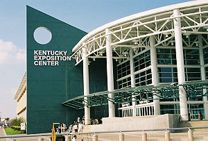 The main entrance and South Wing of the Kentucky Exposition Center