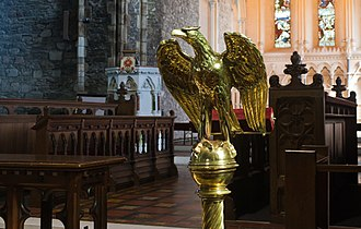 Kildare Cathedral - Image: Kildare Cathedral Choir Eagle Lectern 2013 09 04