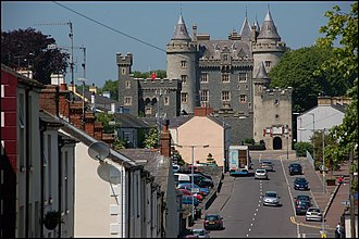 Killyleagh - Killyleagh Castle seen from Church Hill