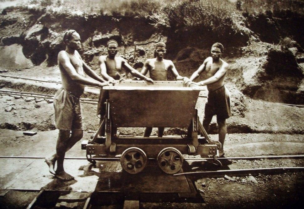 Kisanga-mijn Ruandese arbeiders einde-jaren 1920