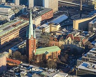 church in central Stockholm, Sweden