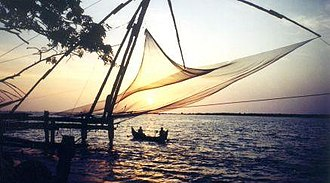 Ernakulam district - Cheena vala (Chinese fishing net)