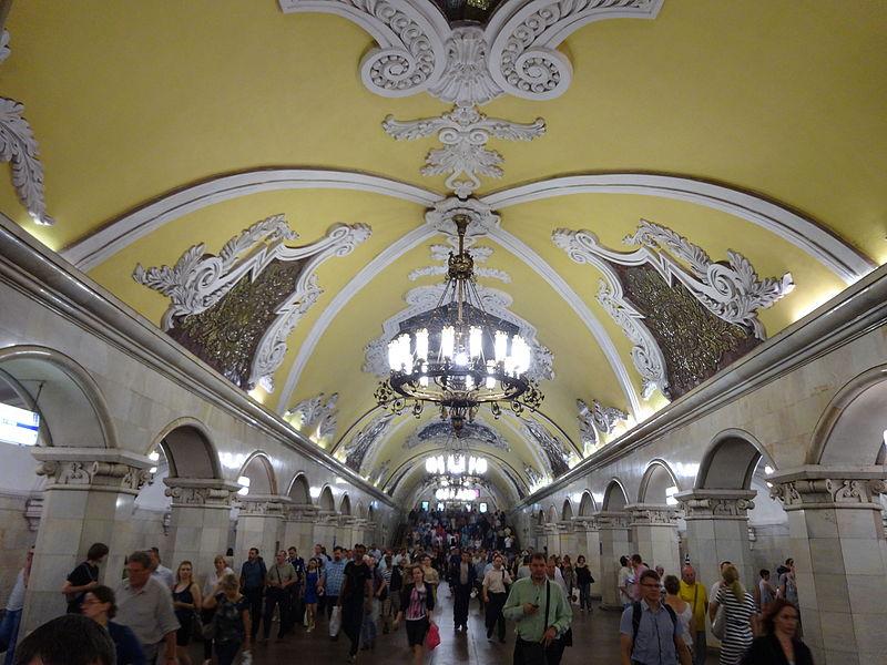 Komsomlskaya Metro Stop Moscow Russia (14372794476).jpg