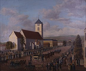 Entry of Charles XIV John of Sweden in Trondheim 31 August 1835