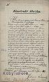 Kontrakt sluzby dla K Kolanowskiego o pelnienie obowiazkow kamerdynera, 1842 r..jpg
