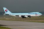 "Korean Air Cargo Boeing 747-4B5F-ER-SCD HL7601 ""100 Years Boeing-KAL Partnership"" sticker (23784138463).jpg"