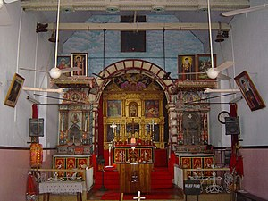 Knanaya -  St. Marys Knanaya Jacobite Church in Kottayam,Kerala containing ancient Nasrani symbols and Sassanid Pahlavi inscriptions