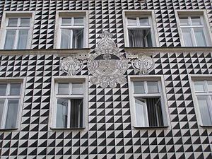 Sgraffito - Facade of a house in Kraków