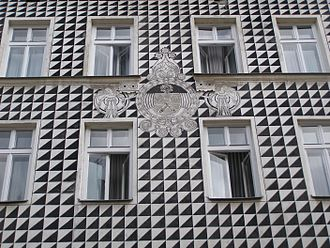 Sgraffito - Facade of a house in Kraków