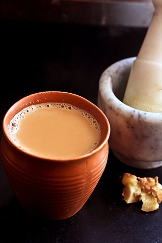 Ginger tea - Image: Kullad chai
