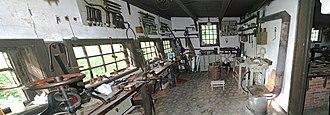 Coppersmith - Image: Kupferschmiede Coppersmithy Museumsdorf Cloppenburg Open air museum Cloppenburg