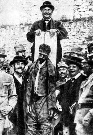 Cesare Battisti (politician) - Execution photo