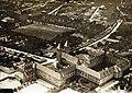 Légifotó a jezsuita Pius gimnázium és internátus (ma Pécsi Tudományegyetem) épületéről és a Jézus Szíve (Pius) templomról. Fortepan 100013.jpg