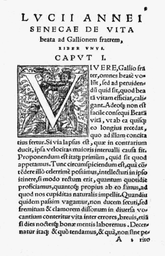 De Vita Beata - From the 1543 edition, published by Antonio Constantino