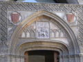 La Aljafería - Patio de entrada - Entrada a capilla de San Martín.JPG