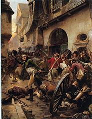 Henri de La Rochejacquelein in der Schlacht von Cholet im Jahr  1793