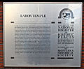 Labor Temple, Missoula, Montana plaque - Montana Historical Society.jpg