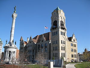 Lackawanna County Courthouse and John Mitchell Monument - Lackawanna County Courthouse, November 2009