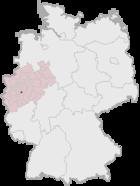 Lage der kreisfreien Stadt Remscheid in Deutschland