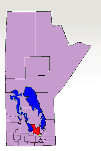 Lakeside (electoral district) - The 1998-2011 boundaries for Lakeside electoral district highlighted in red