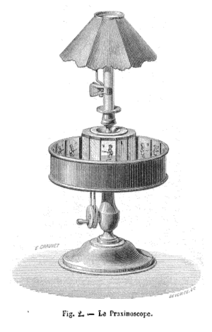Praxinoscope - An 1879 illustration of a praxinoscope
