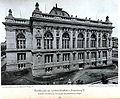 Landesbibliothek in Straßburg, 1889-1894 Architekten Skjold Neckelmann und August Hartel, Rückseite, Tafel 72, Kick Jahrgang I.JPG