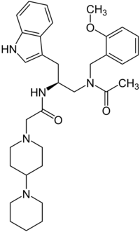 Structural formula of Lanepitant