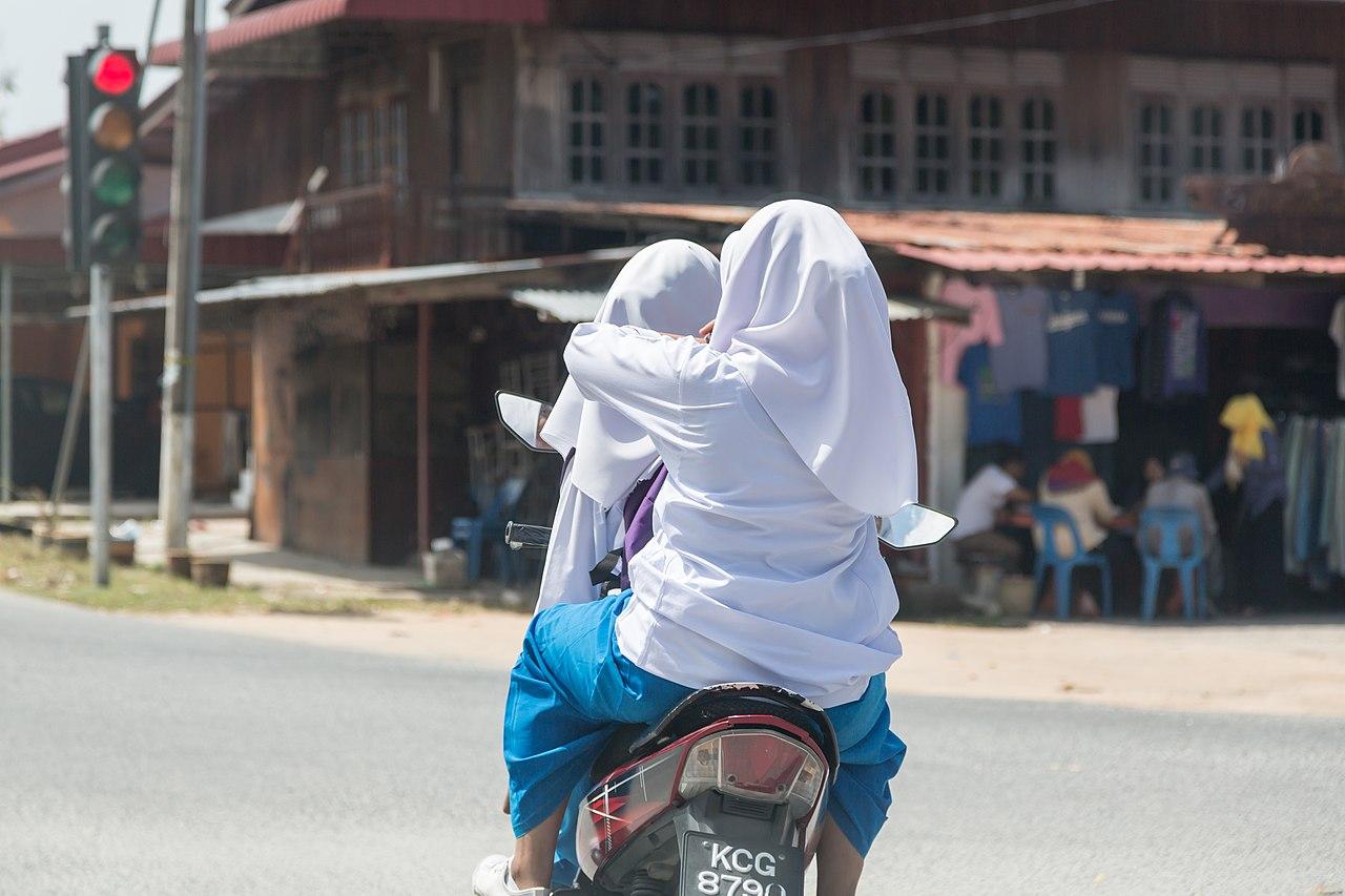 File:Langkawi Malaysia School-girls-on-a-motorbike-01.jpg - Wikimedia Commons
